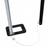 Double loop steel cable POS display tether