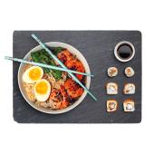 Serve food on a stylish natural slate board
