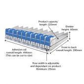 Shelf Management System Kit Dimensions