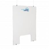 Branded Hanging Acrylic Sneeze Screen