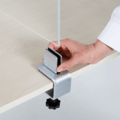 The clamps can attach to table edges between 6mm to 40mm thick