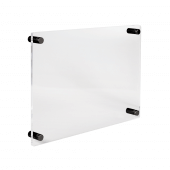 Acrylic Business Plaque with black standoffs