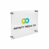 Acrylic Business Plaque with silver standoffs