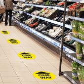 One Way Sign floor vinyls
