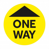 One Way System Floor Stickers