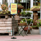 Sign holder stands for retail
