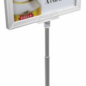 Aluminium free standing sign post