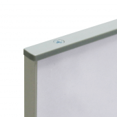 Straight aluminium sign holder with easy change display