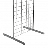 T shaped gridwall legs give side support to freestanding gridwall panels