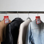 Hanger sale ticket for displaying prices in retail