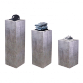 Stone effect display stand