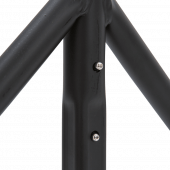 The heavy duty garment rack is made from strong steel