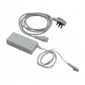 Retail display shelf lighting kit is mains powered using the adaptor