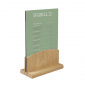 Single tier menu holder