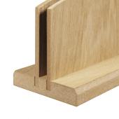 Single slot wooden menu holder