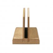 Single tier wooden menu holder