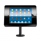 Black countertop iPad POS stand