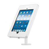 White countertop iPad stand UK POS