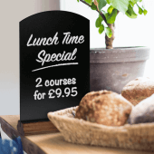 Tabletop Chalkboards are ideal for use with our liquid chalk pens