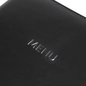 Faux leather menu cover with debossed menu print