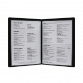 Traditional Faux Leather Menu Cover