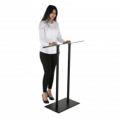 A modern lectern stand, ideal for a variety of settings