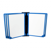 Blue Wall Mounted Poster Flip Book Display