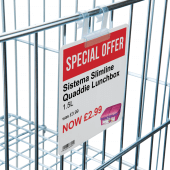 Wire Basket SuperGrip Sign Holders