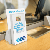 Cardboard leaflet holder available with custom branding