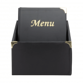 The box features the same reinforced corners as on menu covers