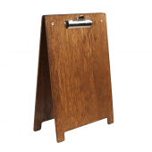 Wooden A Frame Clipboard Menu Holder dark oak