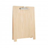 Wooden A Frame Clipboard Menu Holder natural