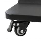 Digital Display Totem with brake wheels