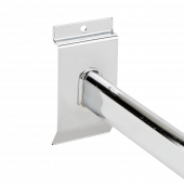 T-Bar Slatwall Arm Rail easily and securely fixes into slatwall panels