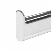 T-Bar Slatwall Arm Rail with raised ends