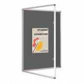 Grey Tamper Resistant Noticeboard