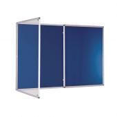 Large Blue Lockable Noticeboard
