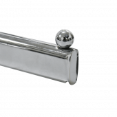 Twin slot clothes rail with ball end stopper