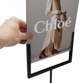 Simply slide a 3mm Foamex sign into the U-shape holder