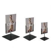 Short stands with portrait Foamex signs