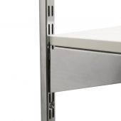 Secure your shelves to your brackets using plastic suction pads
