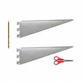 Twin slot shelf brackets size guide