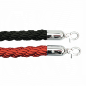 Black and red twisted barrier ropes
