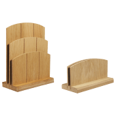 Wooden menu holder, available single or double tiered