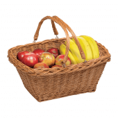 Wicker shopping baskets with handles