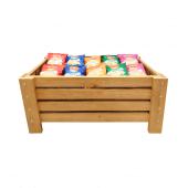 Wooden Crate Dump Bin Merchandiser