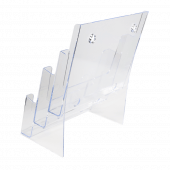 Wall mounted three tier leaflet holder