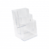 Three tier leaflet dispenser for wall mounting
