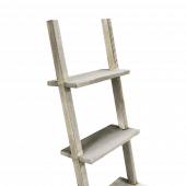 Rustic wooden ladder shelves