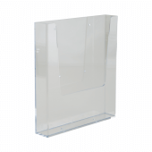 Leaflet holder suitable for wall mounting